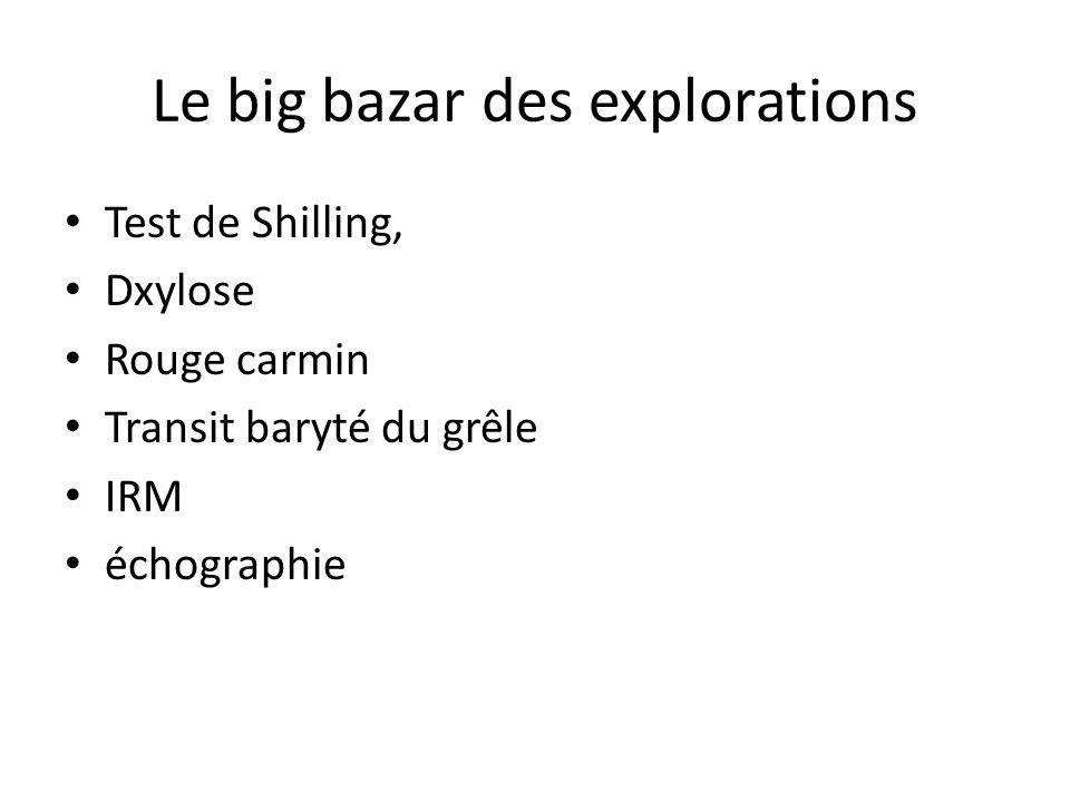 Le big bazar des explorations