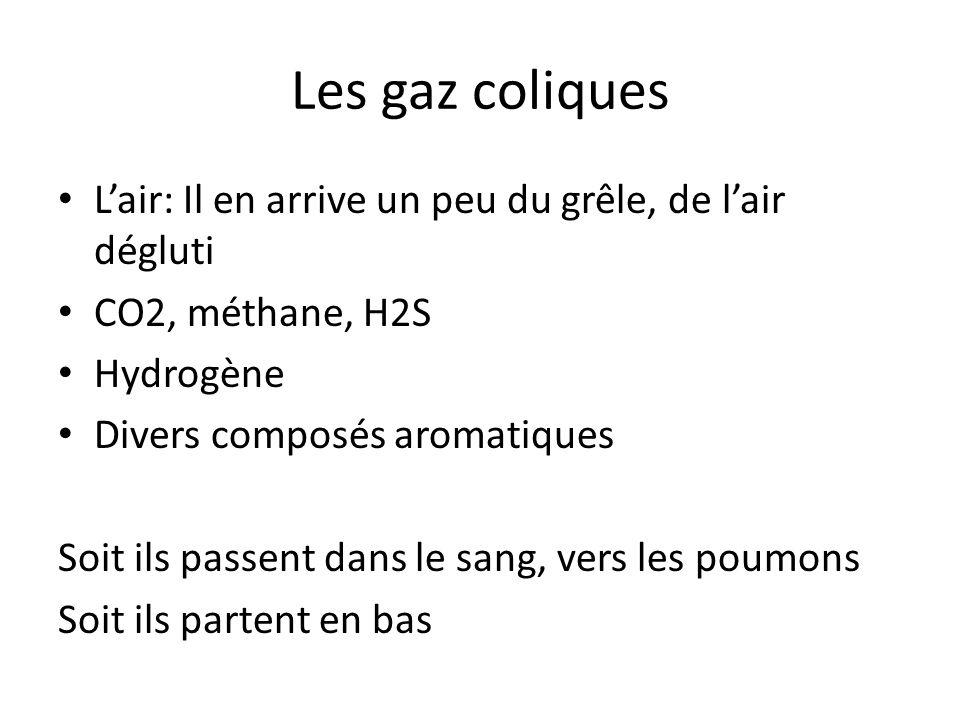 Les gaz coliques L'air: Il en arrive un peu du grêle, de l'air dégluti