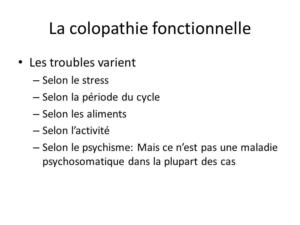 La colopathie fonctionnelle