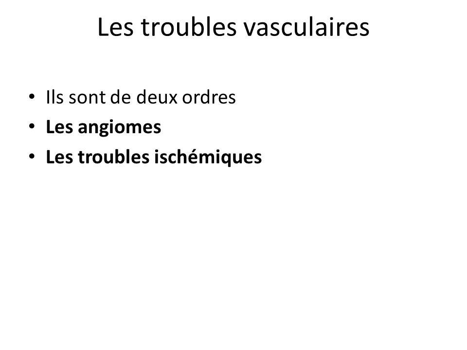 Les troubles vasculaires