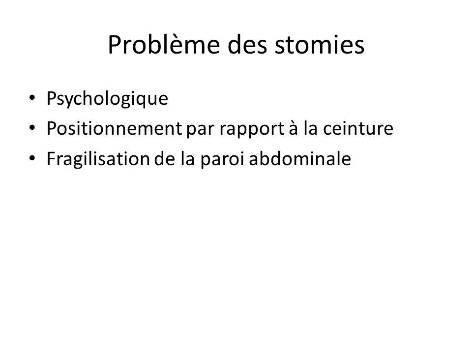 Problème des stomies Psychologique
