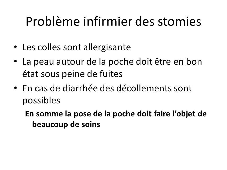 Problème infirmier des stomies