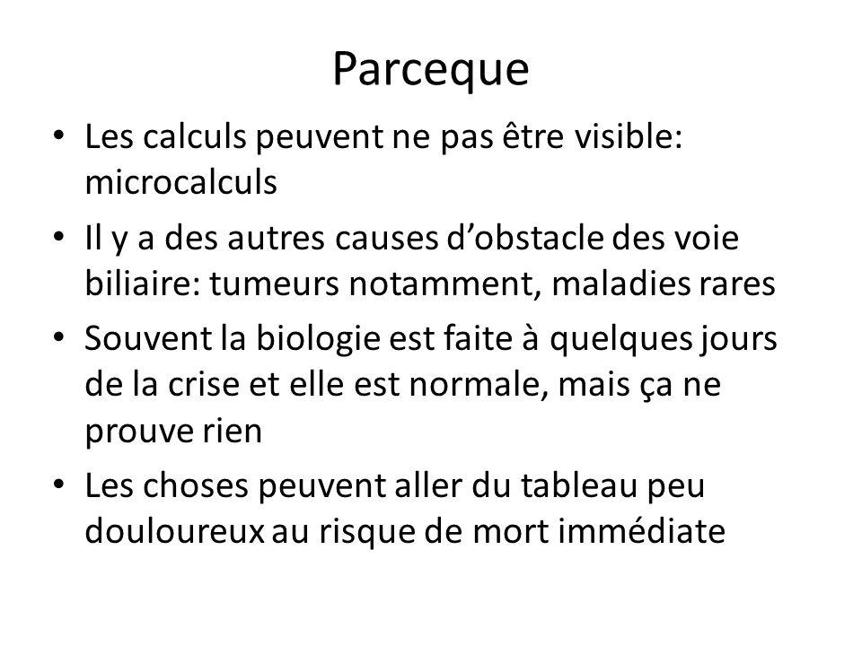 Parceque Les calculs peuvent ne pas être visible: microcalculs
