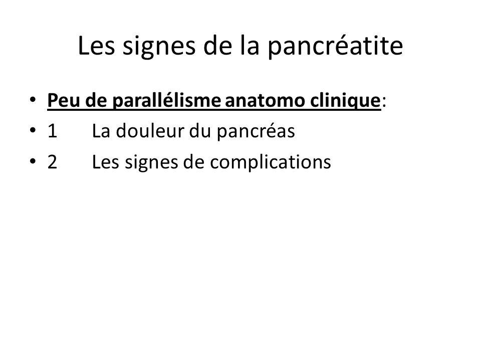 Les signes de la pancréatite