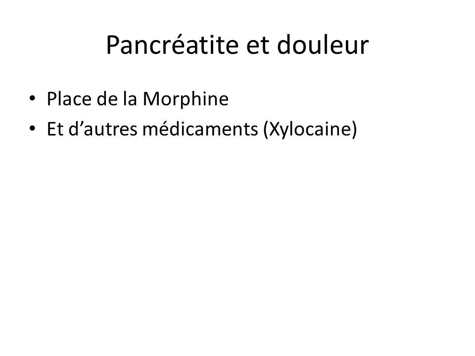 Pancréatite et douleur