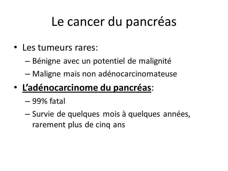 Le cancer du pancréas Les tumeurs rares: L'adénocarcinome du pancréas: