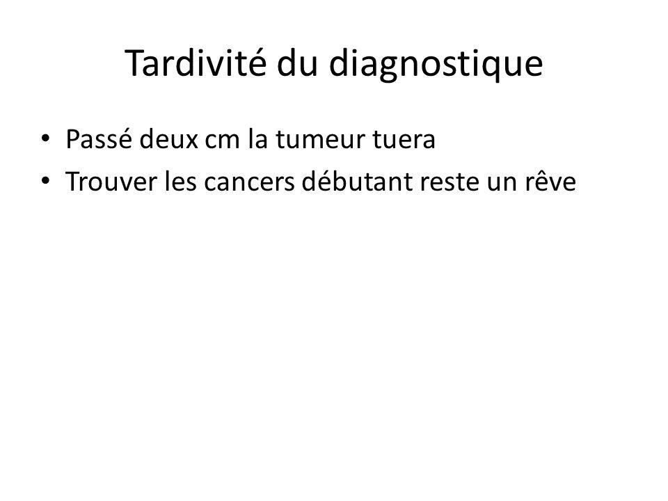 Tardivité du diagnostique