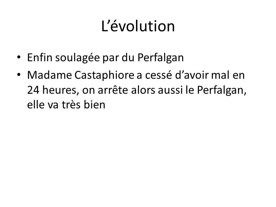 L'évolution Enfin soulagée par du Perfalgan