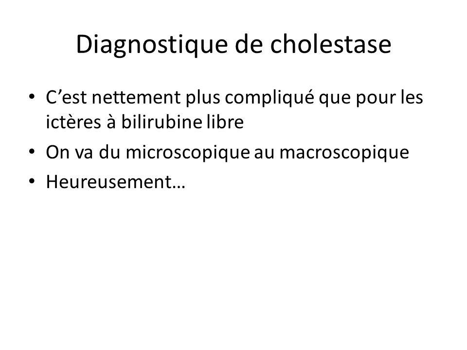Diagnostique de cholestase
