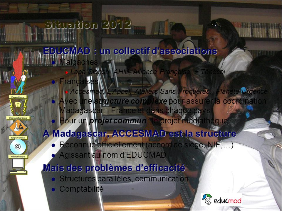 Situation 2012 EDUCMAD : un collectif d'associations