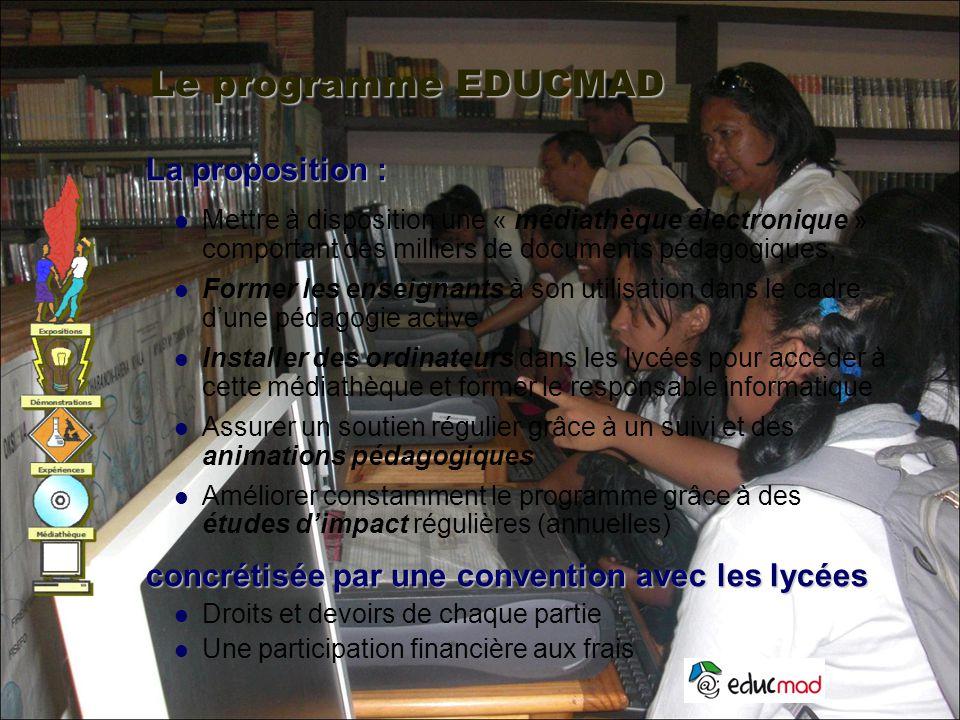 Le programme EDUCMAD La proposition :