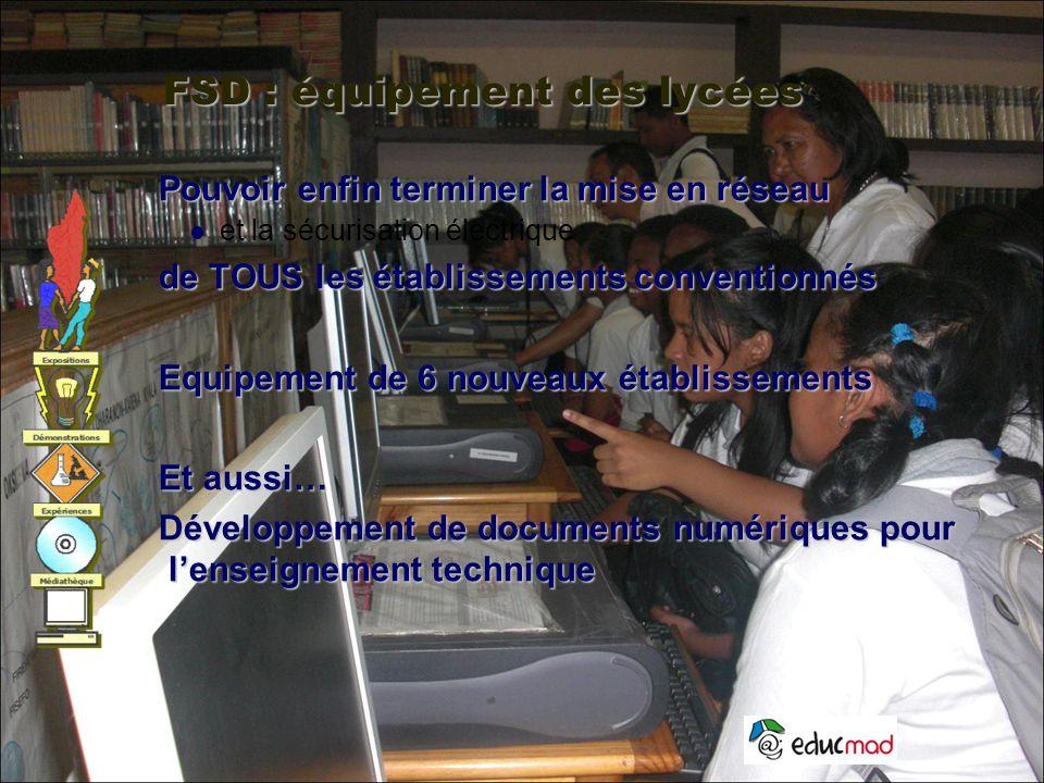 FSD : équipement des lycées