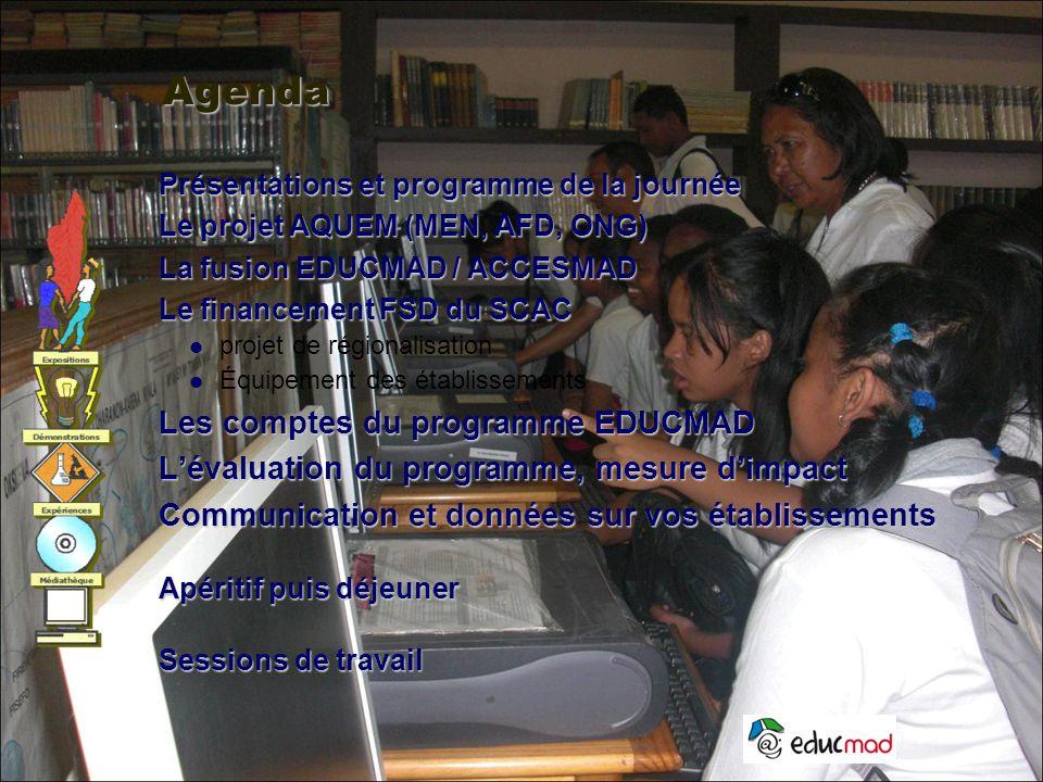 Agenda Les comptes du programme EDUCMAD
