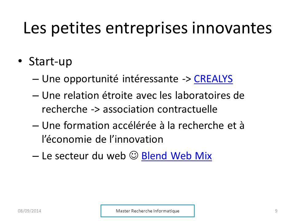 Les petites entreprises innovantes