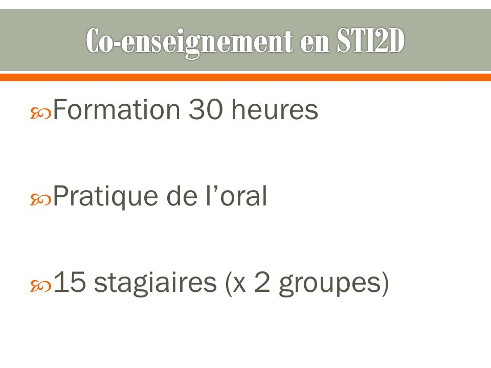 Co-enseignement en STI2D