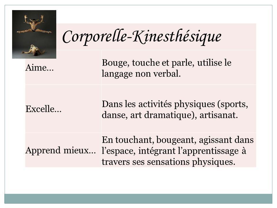 Corporelle-Kinesthésique