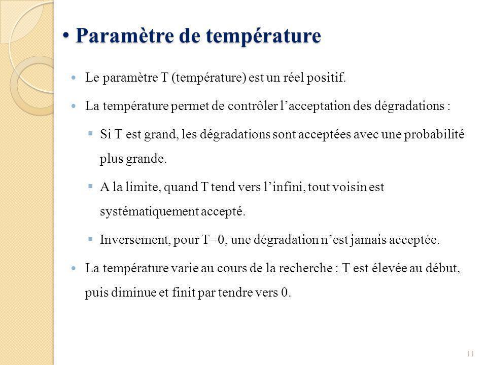 Paramètre de température
