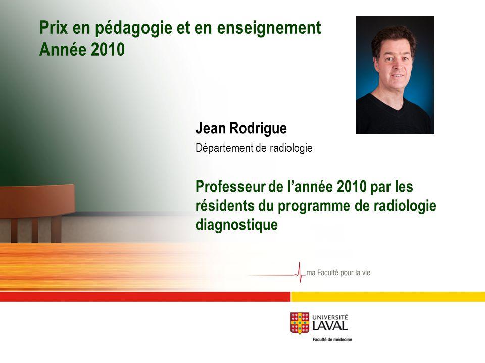 Prix en pédagogie et en enseignement Année 2010