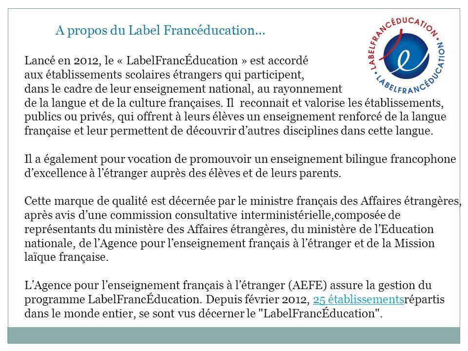 A propos du Label Francéducation…