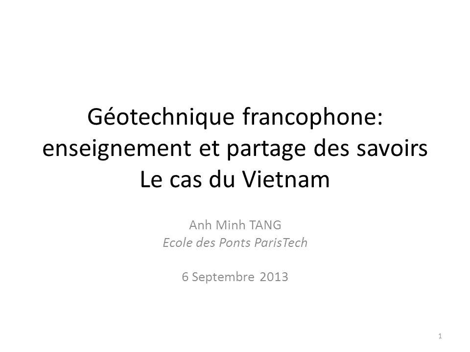 Anh Minh TANG Ecole des Ponts ParisTech 6 Septembre 2013