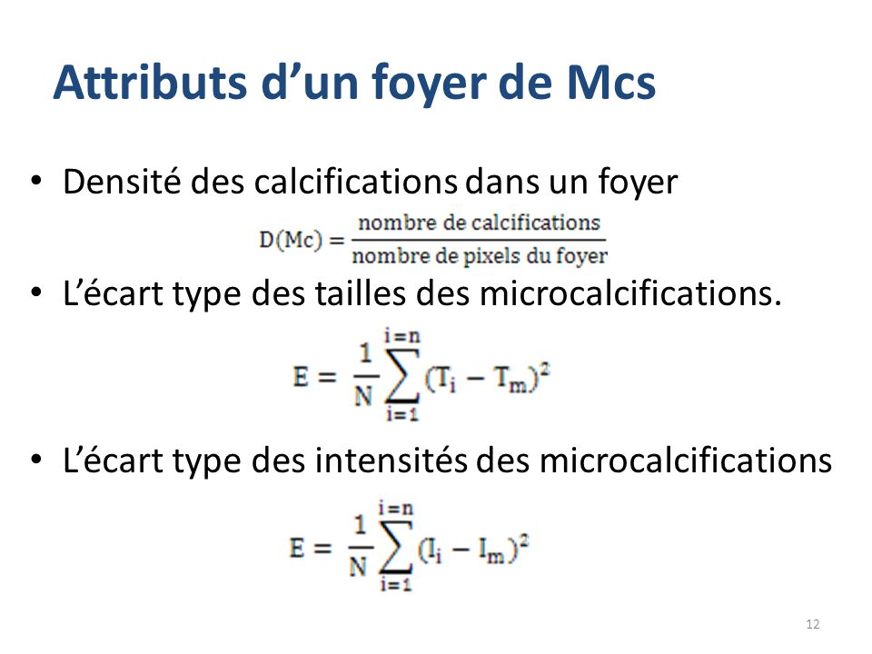 Attributs d'un foyer de Mcs