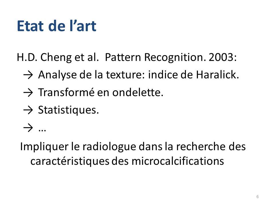Etat de l'art H.D. Cheng et al. Pattern Recognition. 2003: