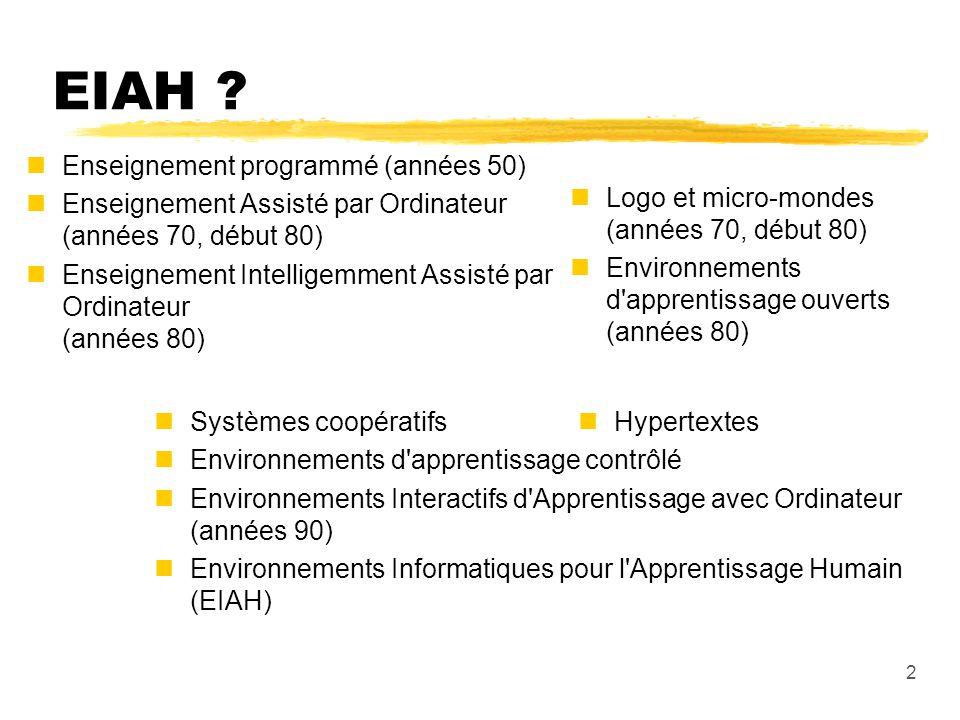 EIAH Enseignement programmé (années 50)