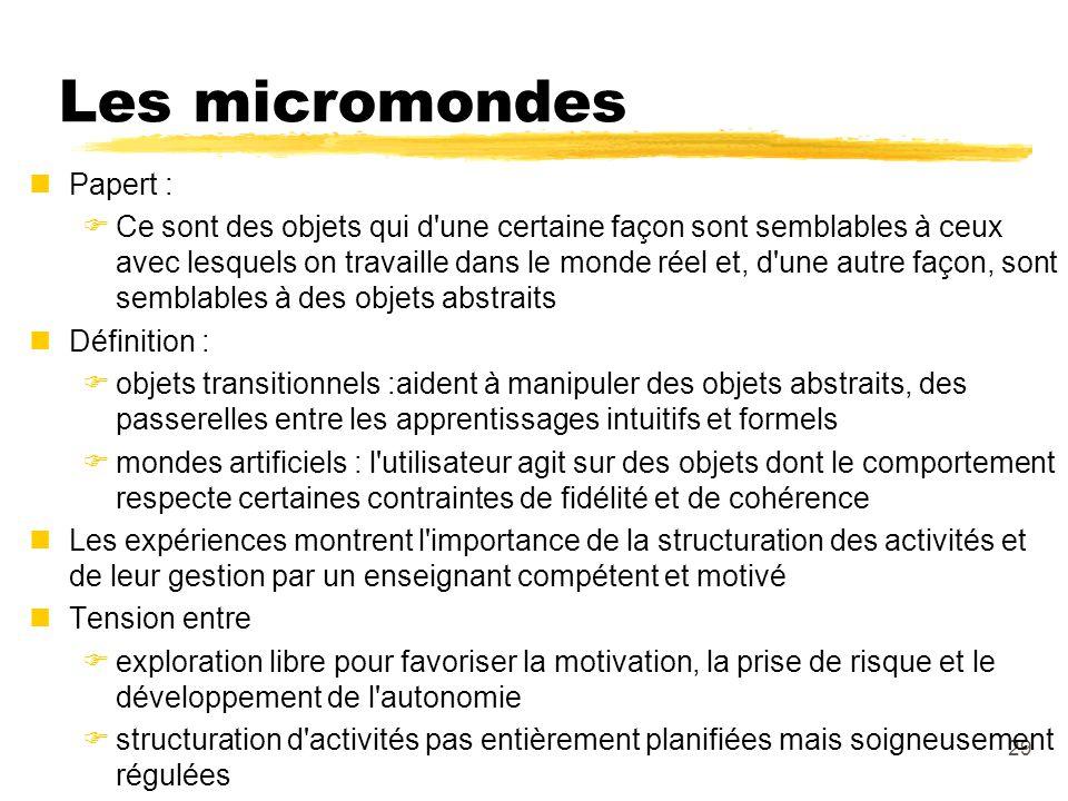 Les micromondes Papert :