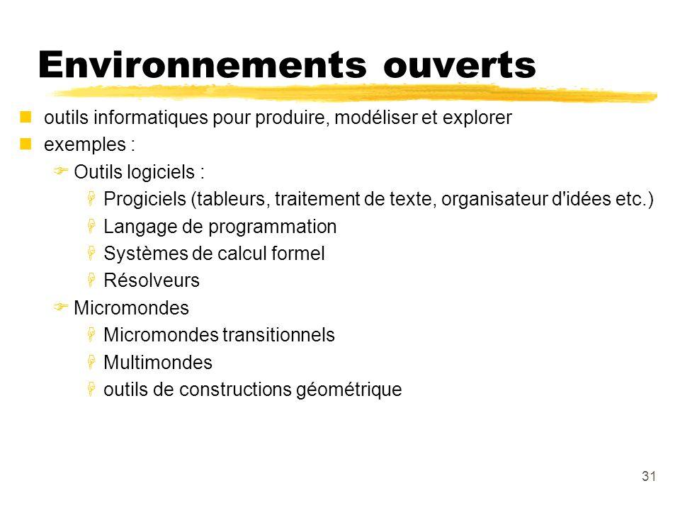 Environnements ouverts