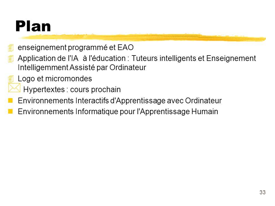 Plan enseignement programmé et EAO