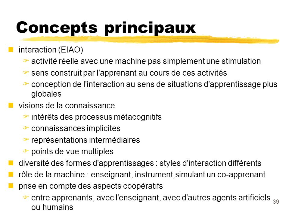 Concepts principaux interaction (EIAO)