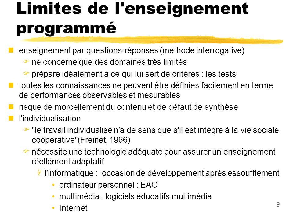 Limites de l enseignement programmé