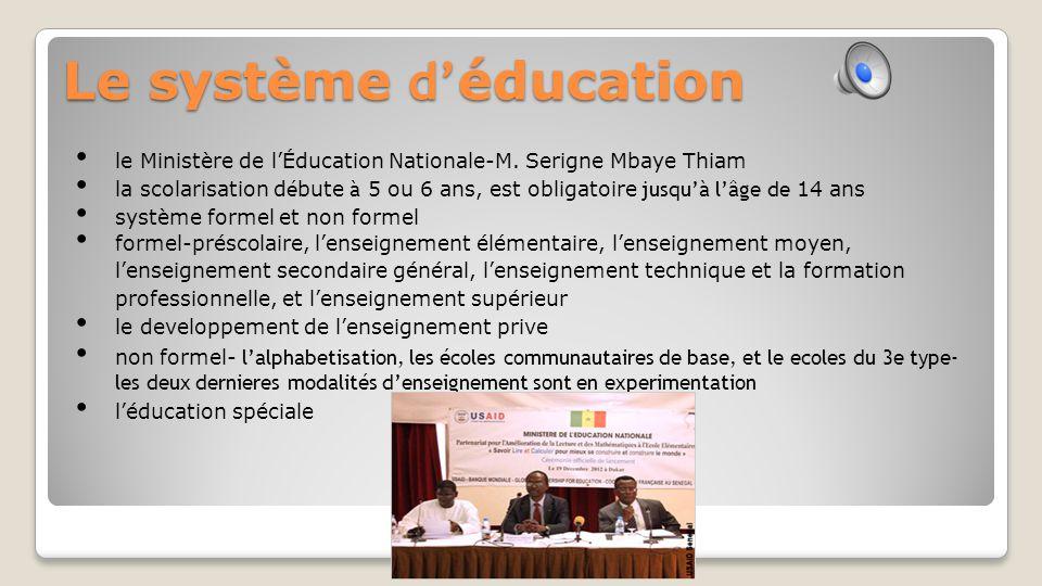 Le système d'éducation