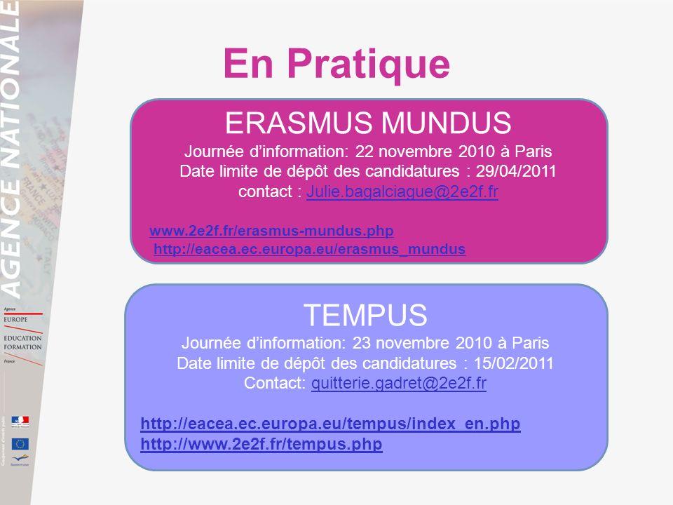 En Pratique ERASMUS MUNDUS TEMPUS