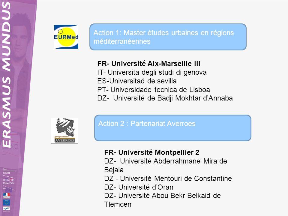 Action 1: Master études urbaines en régions méditerranéennes