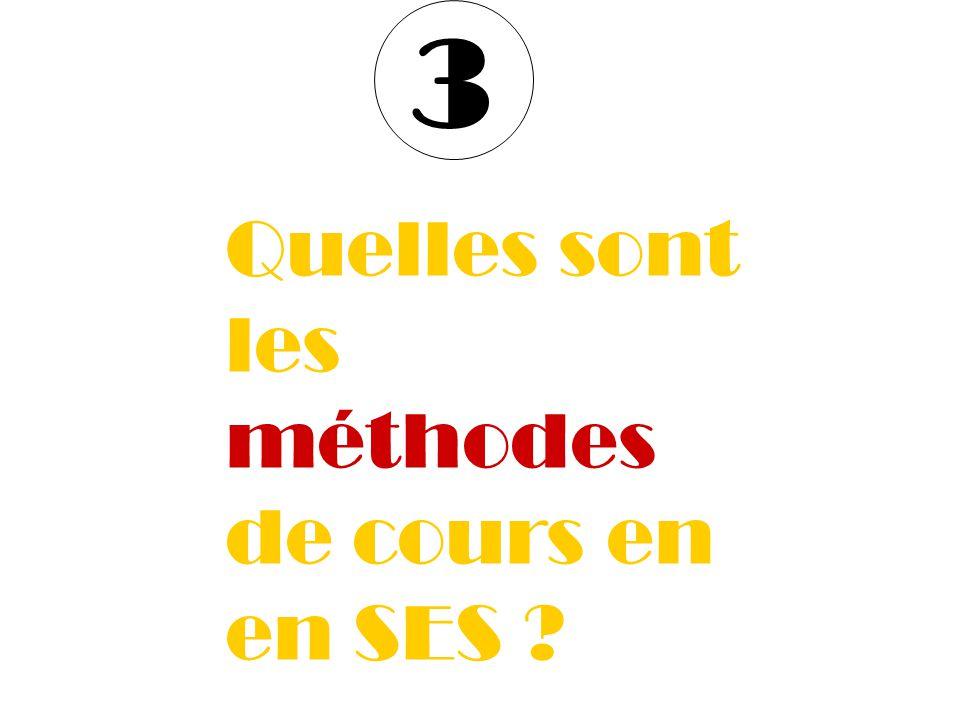 3 Quelles sont les méthodes de cours en en SES
