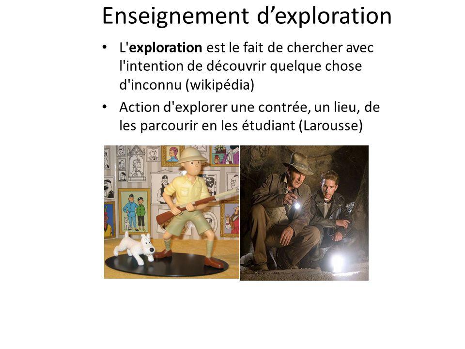 Enseignement d'exploration