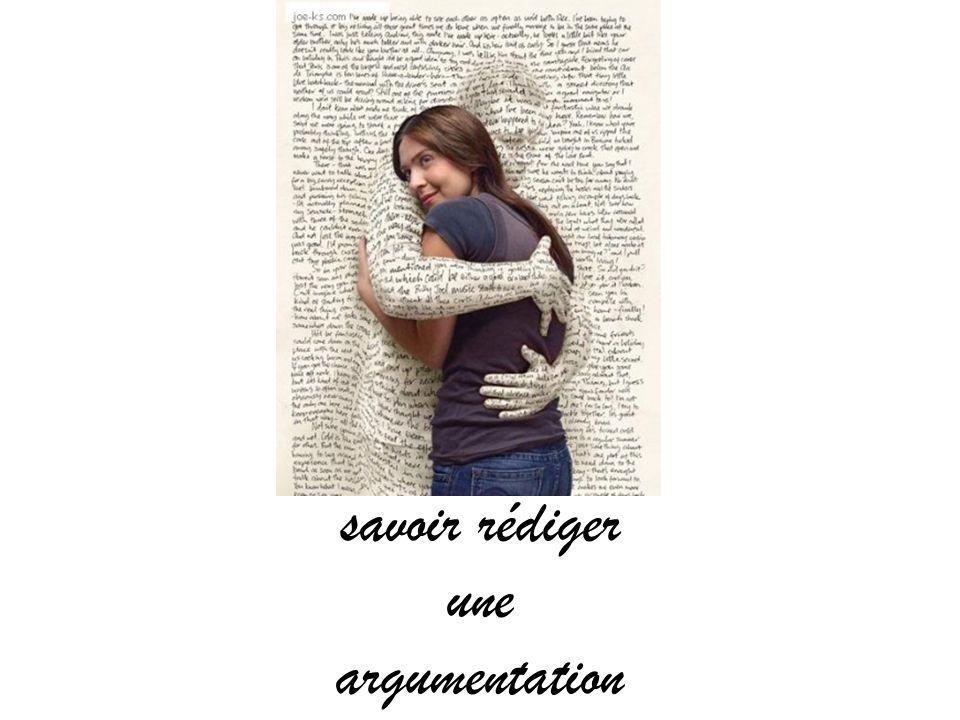 savoir rédiger une argumentation