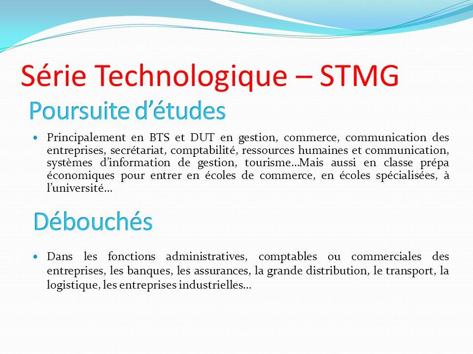 Série Technologique – STMG
