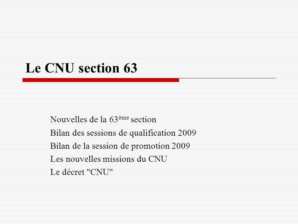 Le CNU section 63 Nouvelles de la 63ème section
