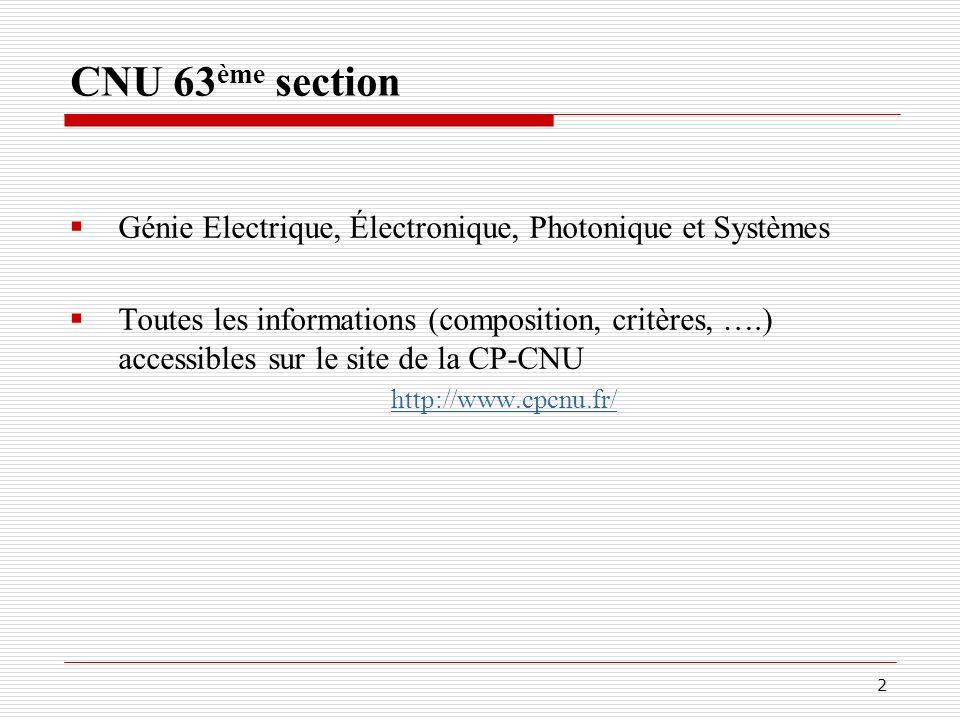 CNU 63ème section Génie Electrique, Électronique, Photonique et Systèmes.