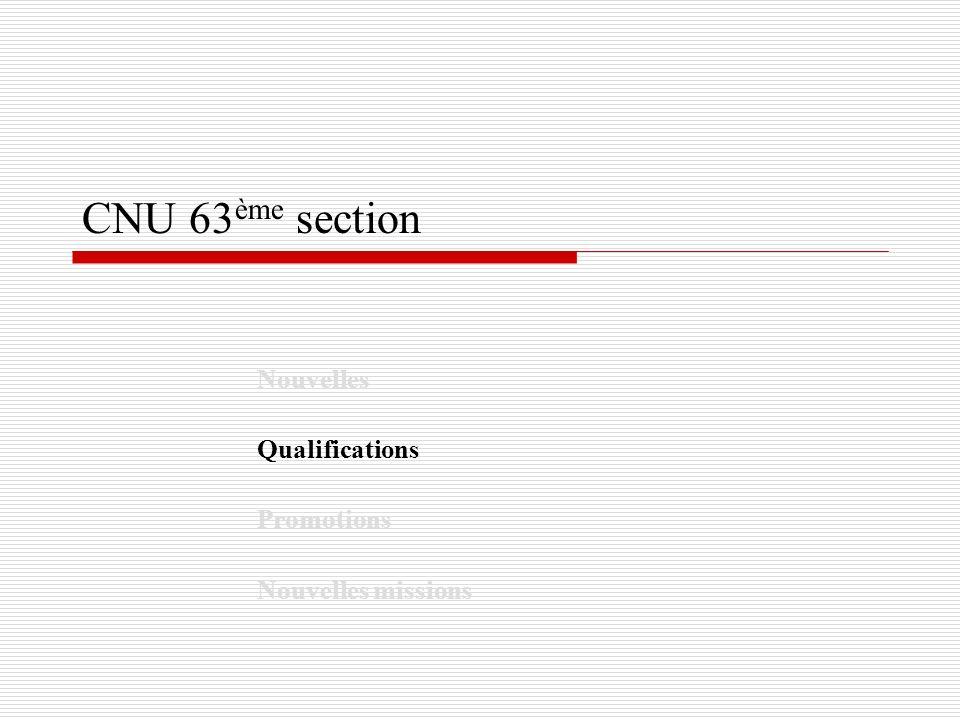 Nouvelles Qualifications Promotions Nouvelles missions
