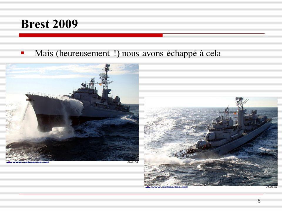 Brest 2009 Mais (heureusement !) nous avons échappé à cela