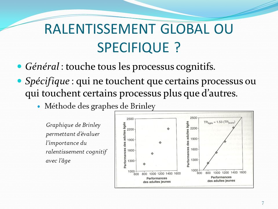 RALENTISSEMENT GLOBAL OU SPECIFIQUE