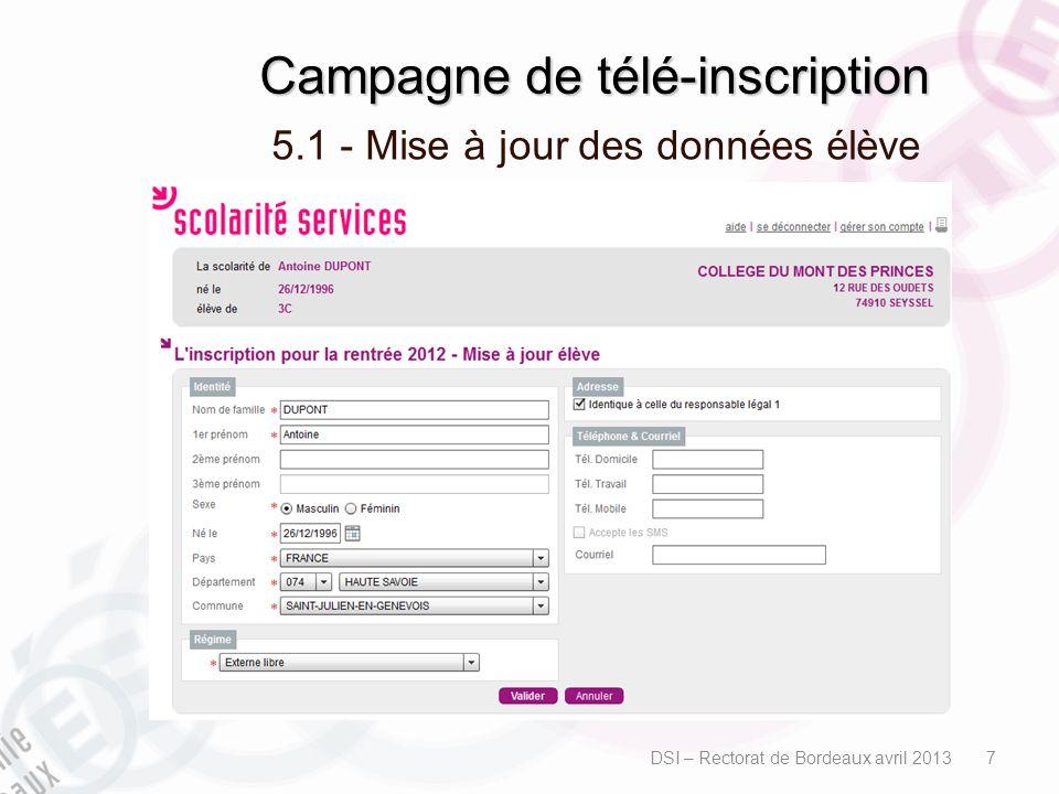 Campagne de télé-inscription