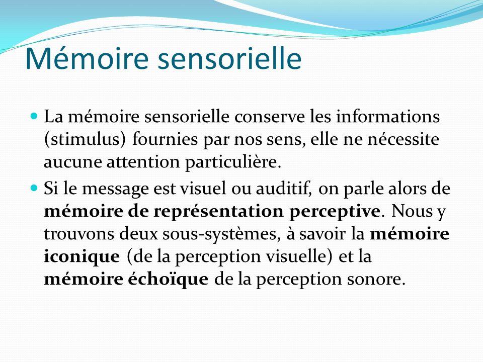 Mémoire sensorielle
