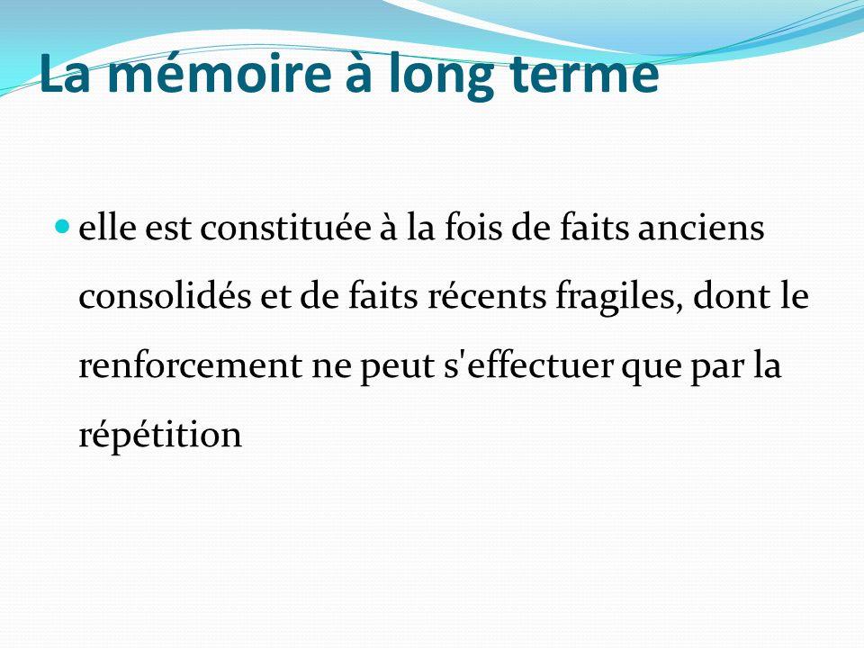 La mémoire à long terme