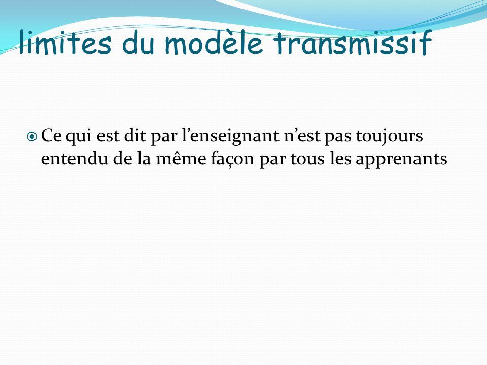 limites du modèle transmissif