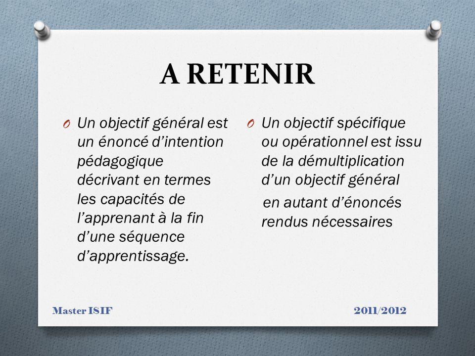 A RETENIR