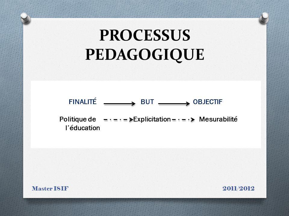 PROCESSUS PEDAGOGIQUE